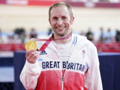 Jason Kenny with his men's keirin gold medal (Danny Lawson/PA)