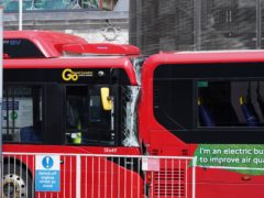 The scene at Victoria bus station, central London, after the fatal crash (Ian West/PA)
