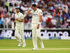 James Anderson and company could not find a morning breakthrough (Zac Goodwin/PA)