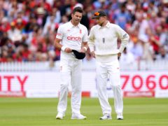 James Anderson (left) and Joe Root carried England's fight against India (Zac Goodwin/PA)