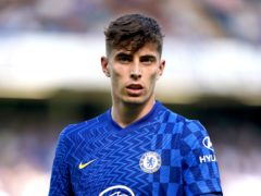 Kai Havertz, pictured, is auctioning off special boots to raise money for those affected by floods in Germany (Tess Derry/PA)