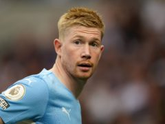 Kevin De Bruyne came off the bench in Manchester City's loss at Tottenham last weekend (Nick Potts/PA).