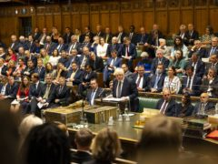 Few MPs were wearing masks during the debate on Afghanistan (UK Parliament/Roger Harris)