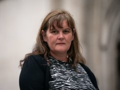 Rebecca Currie, 41, the mother of Mathew Currie, aged five, outside the Royal Courts of Justice in London (Aaron Chown/PA)