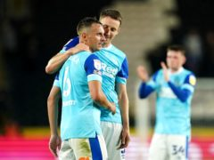 Phil Jagielka, left, helped Derby to victory (Zac Goodwin/PA)