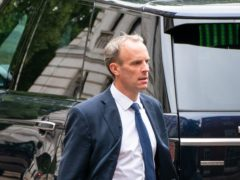 Foreign Secretary Dominic Raab has dismissed reports of him paddleboarding on holiday while Kabul fell as 'nonsense' (Dominic Lipinski/PA)
