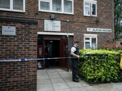 Police at the scene on Ashbridge Street, London (Aaron Chown/PA)