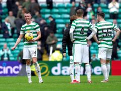 David Turnbull, left, netted a hat-trick for Celtic (PA)
