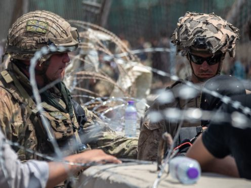 The British (left) and US military have been working together to evacuate people out of Afghanistan (MoD)