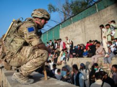 The UK Armed Forces who continue to take part in the evacuation of entitled personnel from Kabul airport (LPhot Ben Shread/MoD/PA)