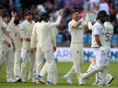 James Anderson led by example for England (Nigel French/PA)
