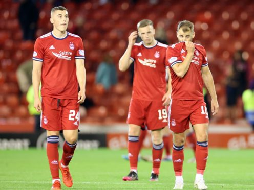 Aberdeen had no answer to Qarabag at Pittodrie (Steve Welsh/PA)