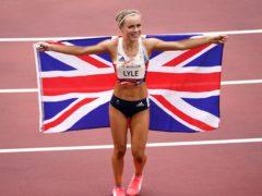 Great Britain's Maria Lyle celebrates after winning bronze in the Women's 100m – T35 Final (John Walton/PA)