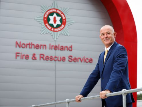Handout photo issued by Press Eye of Peter O'Reilly who has been appointed by the Northern Ireland Fire & Rescue Service (NIFRS) as their new chief officer announced by Health Minister Robin Swann (PA)
