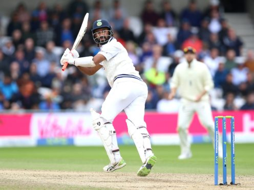 Cheteshwar Pujara returned to form with 91 not out (Nigel French/PA)