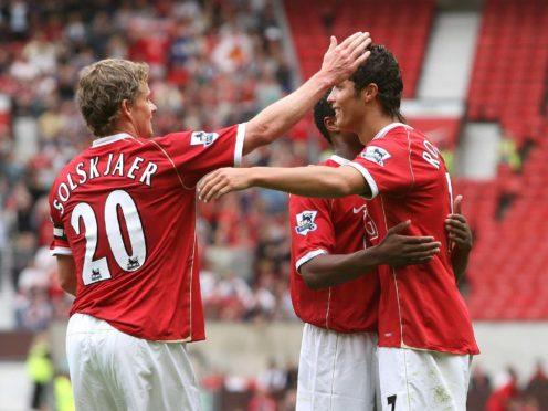 Cristiano Ronaldo, right, will be managed by Ole Gunnar Solskjaer, left, at Old Trafford (Martin Rickett/PA)