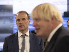 Boris Johnson has full confidence in Dominic Raab (Jeff Gilbert/Daily Telegraph/PA)
