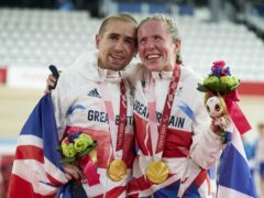 Golden couple Neil and Lora Fachie enjoyed an unforgettable day in Japan (ParalympicsGB/imagecomms/PA)