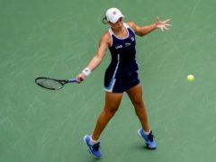 Ashleigh Barty beat Vera Zvonareva in straight sets to reach the US Open second round (John Minchillo/AP)
