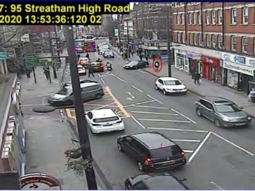 Sudesh Amman walking on Streatham High Road (Metropolitan Police/PA)
