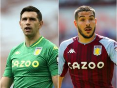 Aston Villa keeper Emi Martinez (left) and midfielder Emi Buendia have joined up with the Argentina squad (Tim Keeton/Barrington Coombs/PA)