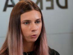 Belarusian Olympic sprinter Krystsina Tsimanouskaya (Czarek Sokolowski/AP)