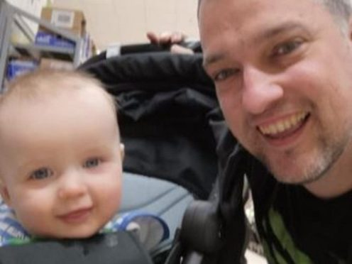 Serving police officer David Louden and his son Harrison were found dead at a property in Kidderminster on Friday (West Mercia Police/PA)