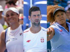 Ashleigh Barty, Novak Djokovic and Naomi Osaka are among the players to watch at the US Open (AP/PA/AP)