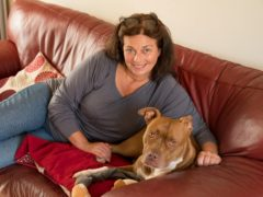 Anita Mehdi and pet dog Lola (Blue Cross/PA)