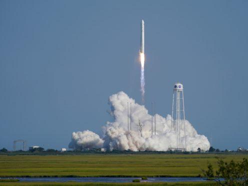 Northrop Grumman's Antares rocket lifts off the launch pad at the NASA Test Flight Facility (Steve Helber/AP)
