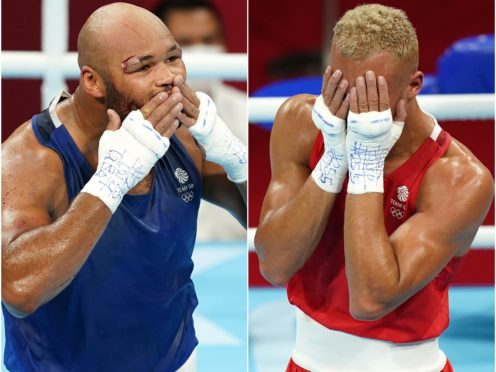 Frazer Clarke (left) and Ben Whittaker (right) won Team GB medals (Mike Egerton/PA)