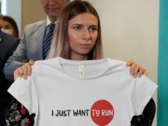 Belarusian Olympic sprinter Krystsina Tsimanouskaya (AP)