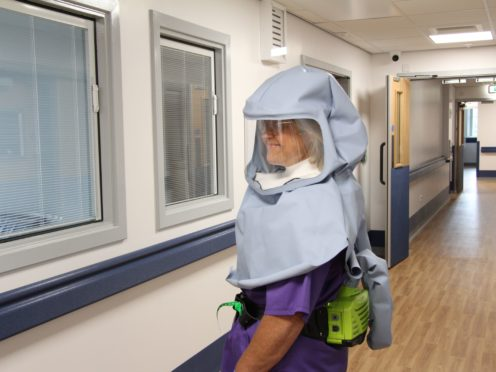 The Morecambe Bay Hood has been described as a 'game-changer' by hospital staff (BAESystems/PA)