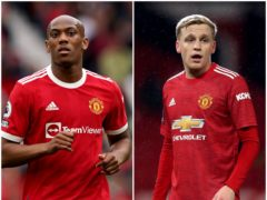 Anthony Martial and Donny van de Beek are staying at Manchester United after proposed transfers failed (Martin Rickett/Martin Rickett/PA)