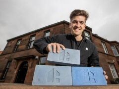 Hoko founder Danny Campbell with £75,000 worth of the bricks (Jeff Holmes/PA)