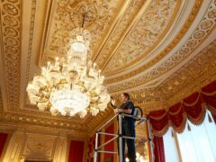 Windsor Castle staff prepare the semi-state rooms for opening to the public (Royal Collection Trust/Her Majesty Queen Elizabeth II 20121/PA)