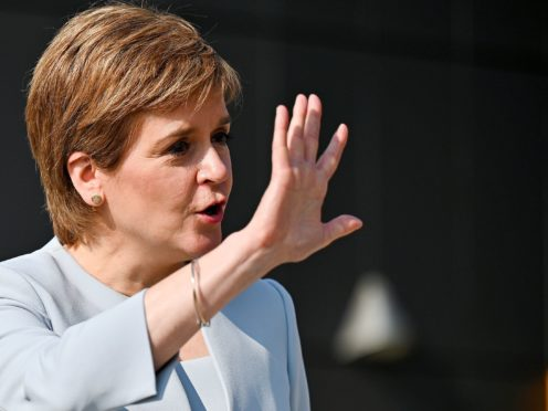Nicola Sturgeon said the Scottish Government would fund a special event for children and young people linked to the upcoming Cop26 climate change summit (Jeff J Mitchell/PA)