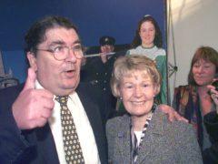 Pat Hume with her husband John (Barry Batchelor/PA)