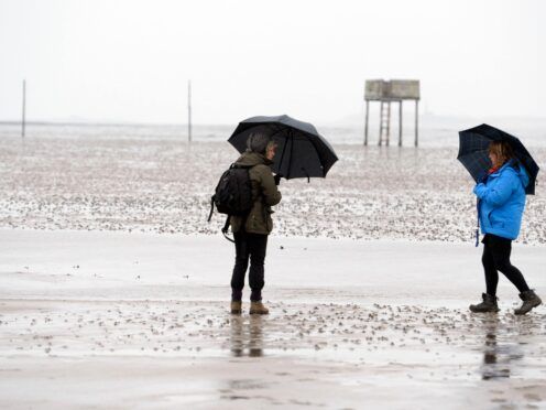 A yellow weather warning is in place for the north east of Scotland on Monday until about 12pm (Owen Humphreys/PA)