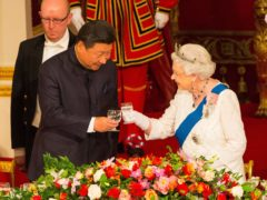 Chinese president Xi Jinping with the Queen during his state visit to the UK (Dominic Lipinski/PA)