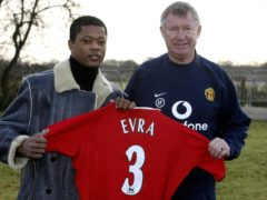 Patrice Evra and Sir Alex Ferguson enjoyed dinner together (PA)