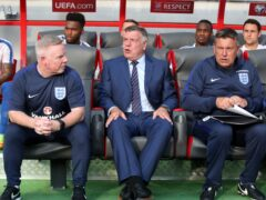 Sam Allardyce, centre, was in charge of England for just one match (Nick Potts/PA)