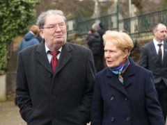 John Hume and wife Pat, who has died in Londonderry (Niall Carson/PA)