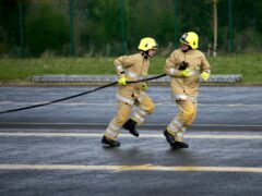 Firefighters responded to the incident (Jane Barlow/PA)