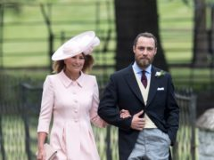 James Middleton with his mother Carole (Arthur Edwards/The Sun/PA)