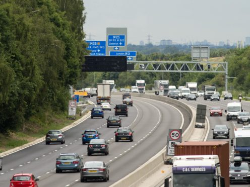 Most drivers want hard shoulders reinstated on smart motorways, a new survey suggests (Steve Parsons/PA)