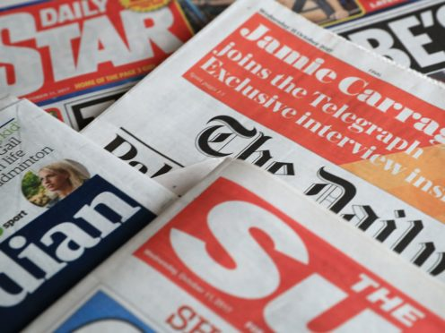 What the papers say – September 6 (Peter Byrne/PA)