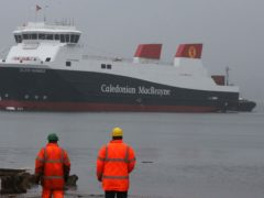 The ferries are due to come in four years late and more than double the original budget (Andrew Milligan/PA)