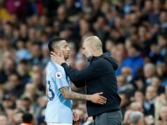 Pep Guardiola, right, was full of praise for Gabriel Jesus after the win at Chelsea (Martin Rickett/PA)