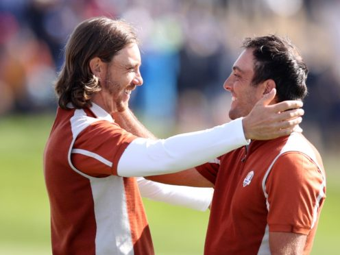 Tommy Fleetwood (left) and Francesco Molinari won all four of their matches in Paris in 2018 (Adam Davy/PA)